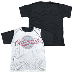Oldsmobile - Oversized And Faded Logo Youth Black Back 100% Poly T-Shirt