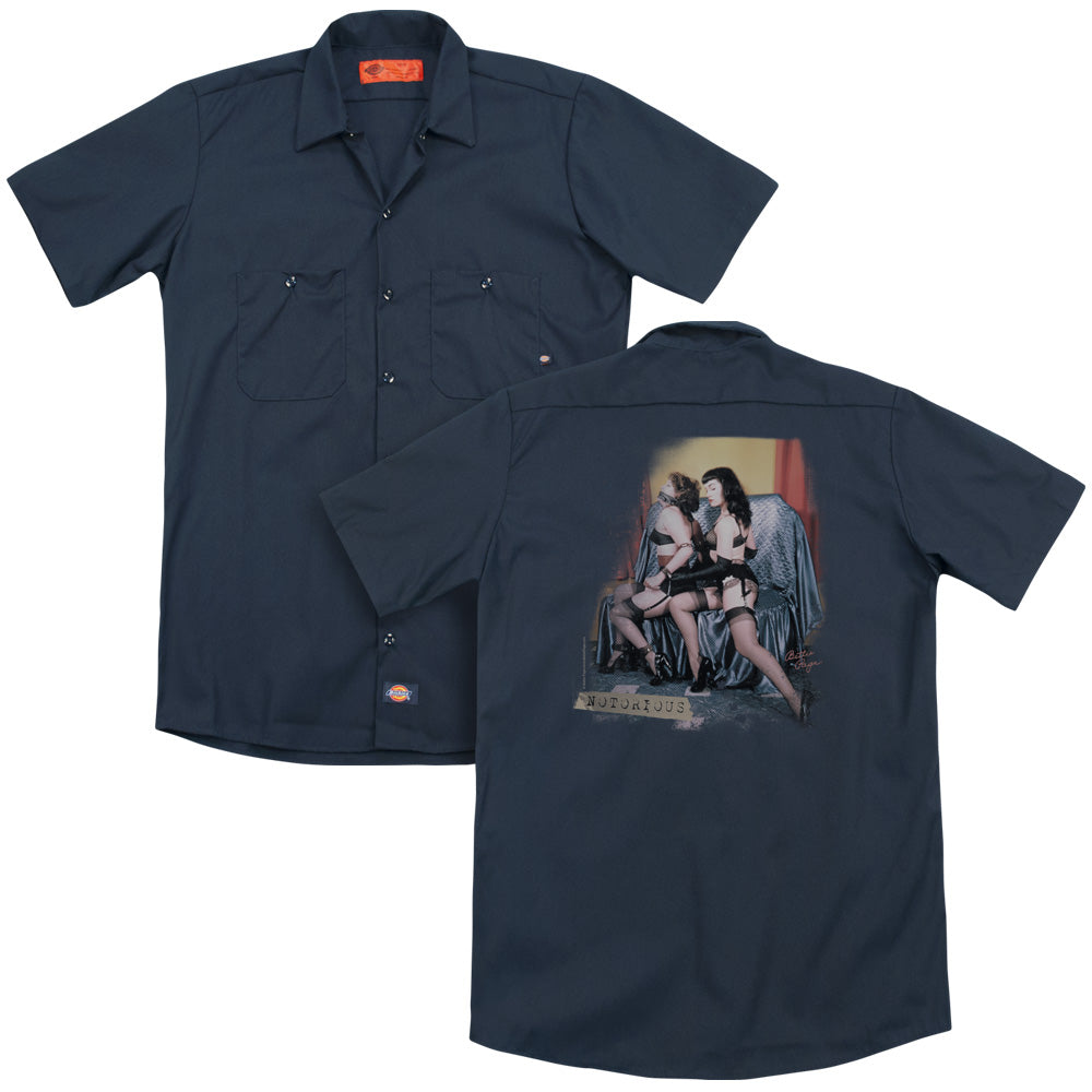 Bettie Page Notorious Color Adult Work Shirt
