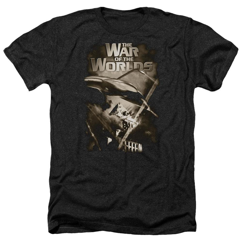 War Of The Worlds Death Rays Adult Regular Fit Heather T-Shirt