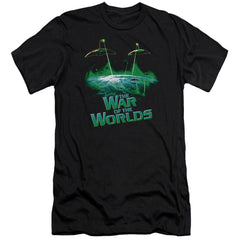 War Worlds Global Attack Premium Adult Slim Fit T-Shirt