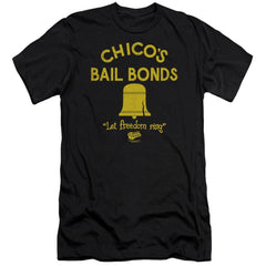 Bad News Bears Chico's Bail Bonds Premium Adult Slim Fit T-Shirt