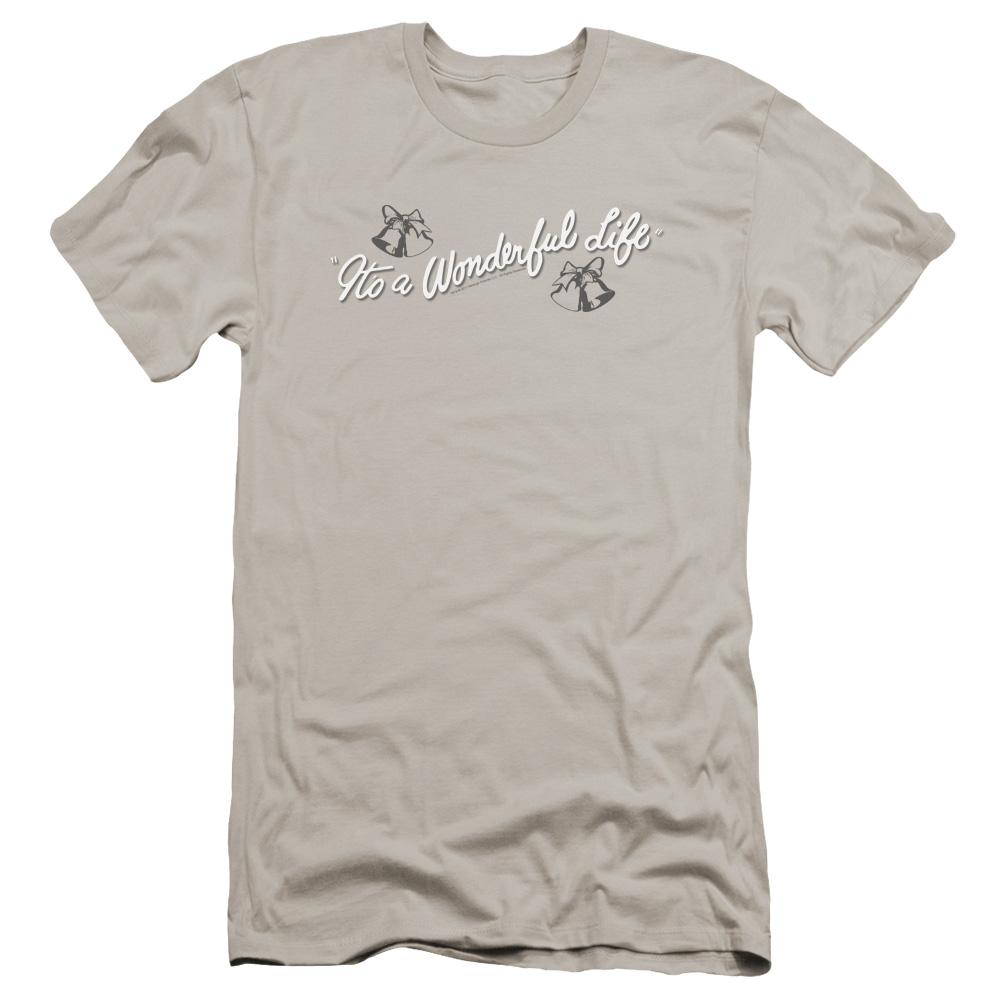 It's A Wonderful Life Logo Premium Adult Slim Fit T-Shirt