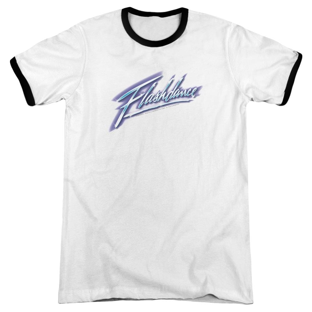 Flashdance - Logo Adult Ringer T- Shirt