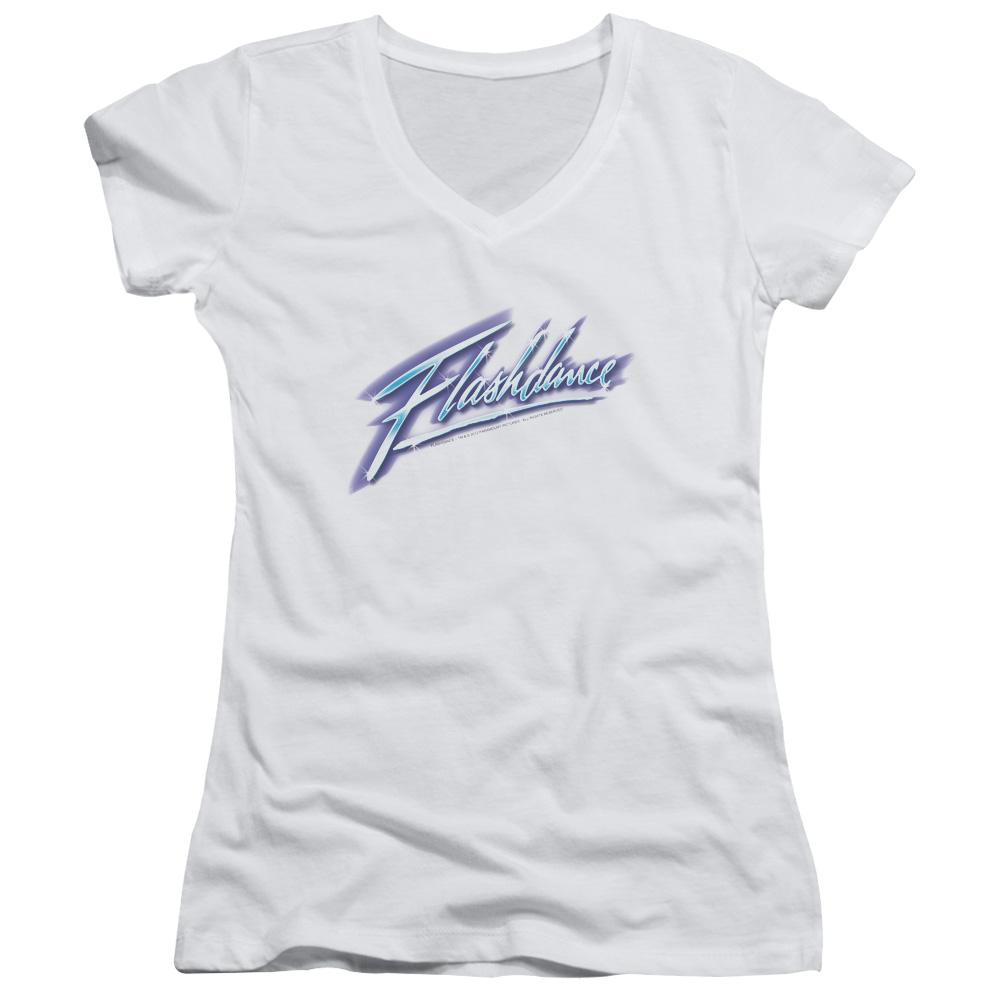 Flashdance Logo Junior V-Neck T-Shirt