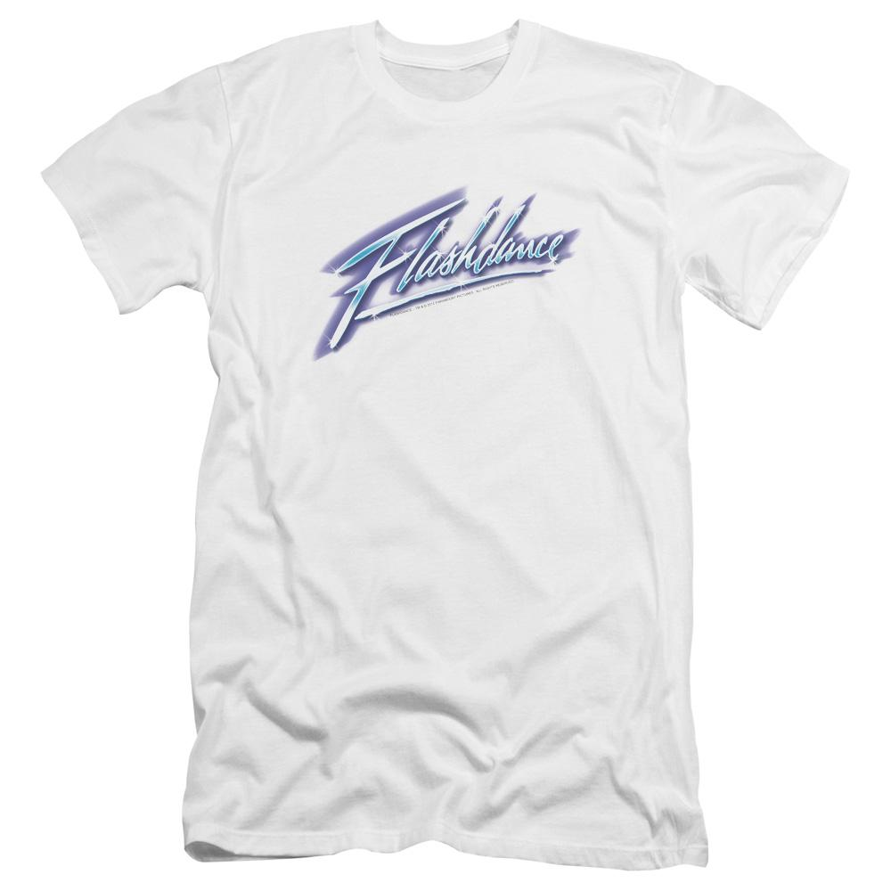 Flashdance Logo Premium Adult Slim Fit T-Shirt