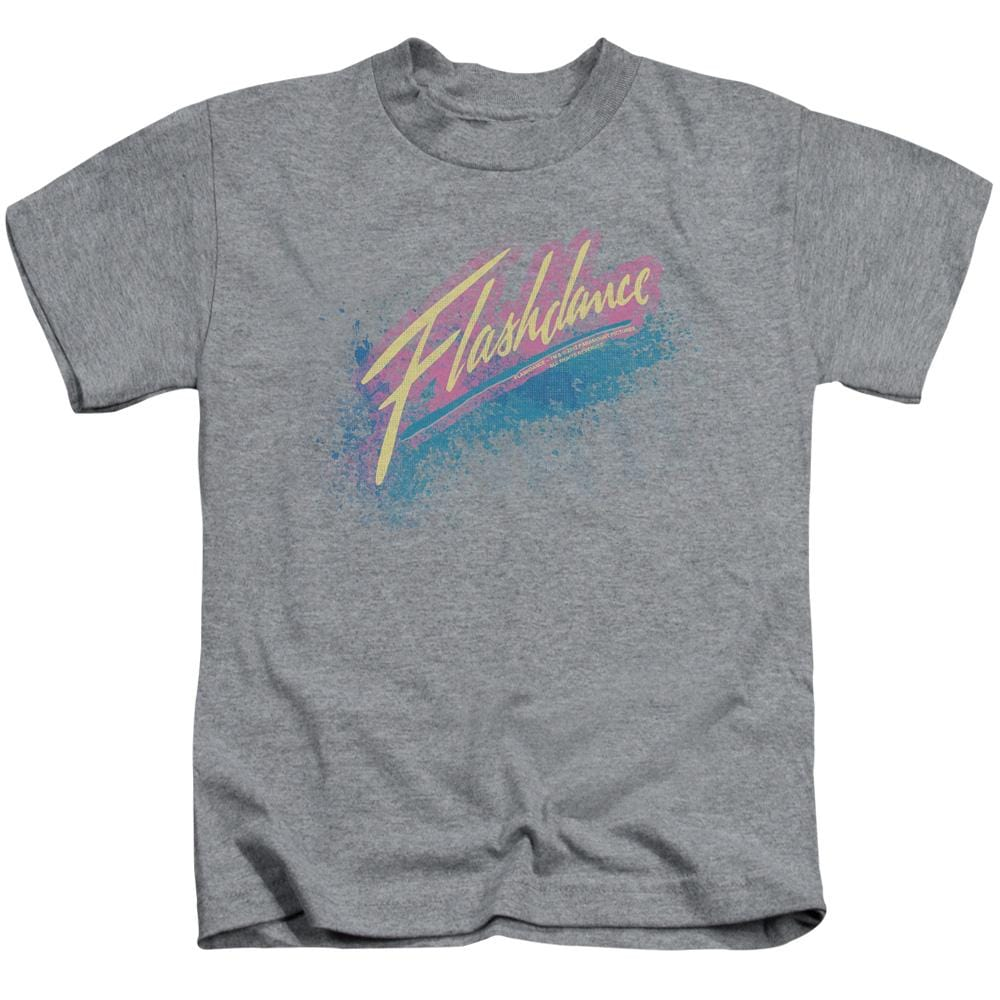 Flashdance - Spray Logo Kids T-Shirt (Ages 4-7)
