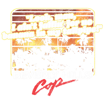 Beverly Hills Cop Banana In My Tailpipe Men's Heather T-Shirt