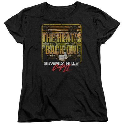 Beverly Hills Cop The Heats Back On Women's T-Shirt