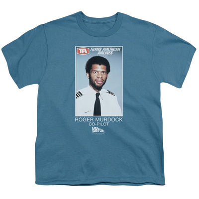 Airplane Roger Murdock Youth T-Shirt (Ages 8-12)