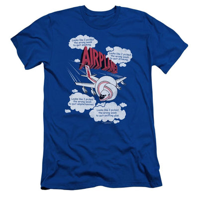 Airplane Picked The Wrong Day Men's Slim Fit T-Shirt