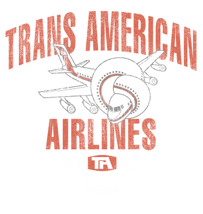 Airplane Trans American Men's Long Sleeve T-Shirt