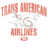Airplane Trans American Men's V-Neck T-Shirt