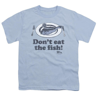 Airplane Dont Eat The Fish Youth T-Shirt (Ages 8-12)