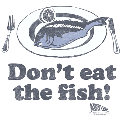 Airplane Dont Eat The Fish Men's Slim Fit T-Shirt