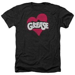 Grease Heart Adult Regular Fit Heather T-Shirt