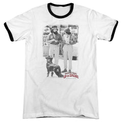 Cheech & Chong - Square Adult Ringer T- Shirt