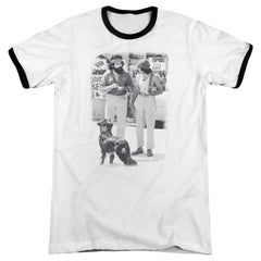 Cheech & Chong - Cheech Chong Dog Adult Ringer T- Shirt