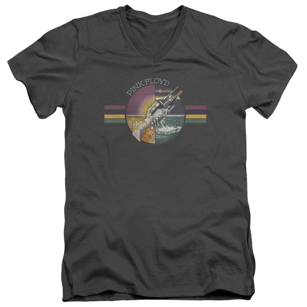 Pink Floyd Welcome To The Machine Adult V-Neck T-Shirt