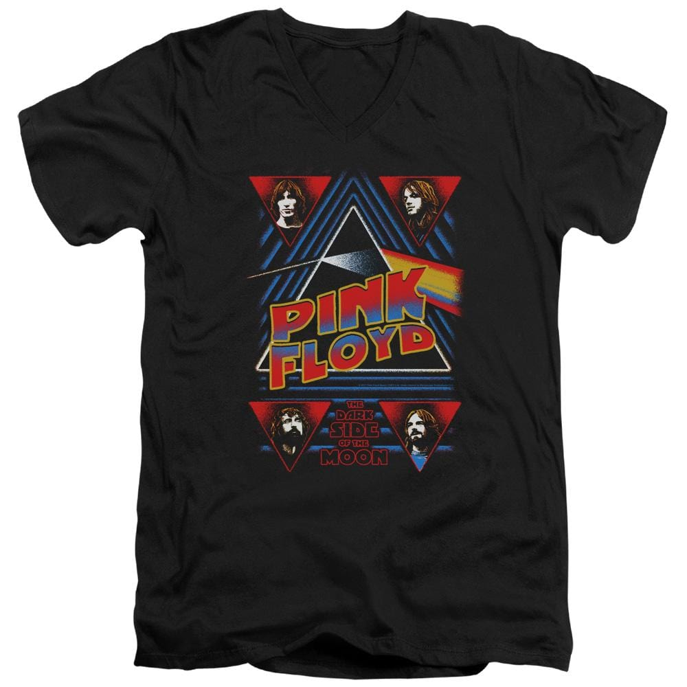 Pink Floyd Dark Side Adult V-Neck T-Shirt