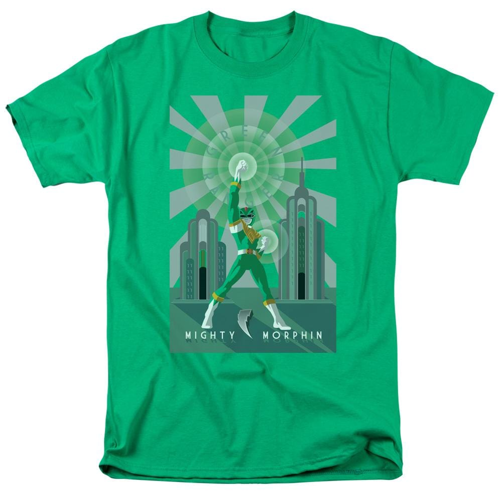 Power Rangers Green Ranger Deco Adult Regular Fit T-Shirt
