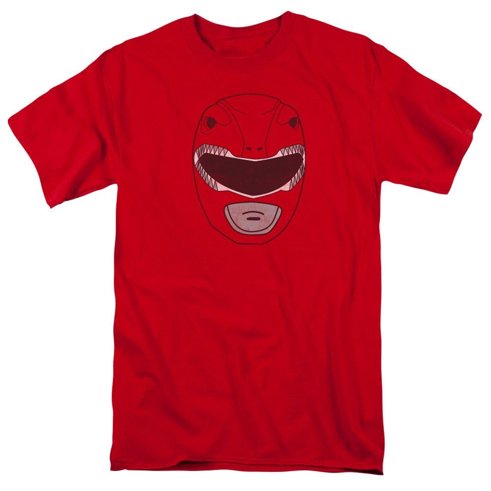Power Rangers Red Ranger Mask Adult Regular Fit T-Shirt