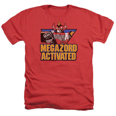 Power Rangers Megazord Activated Adult Regular Fit Heather T-Shirt