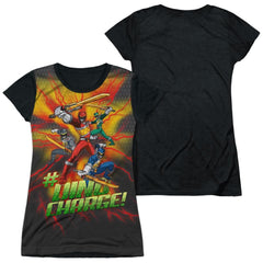 Power Rangers - Hashtag Junior All Over Print 100% Poly T-Shirt