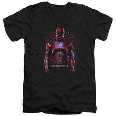 Power Rangers - Red Ranger Adult V-Neck T-Shirt