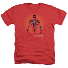 Power Rangers - Red Power Ranger Graphic Adult Regular Fit Heather T-Shirt