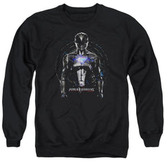 Power Rangers Black Ranger Adult Crewneck Sweatshirt