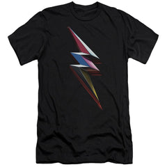 Power Rangers Movie Bolt Adult Slim Fit T-Shirt