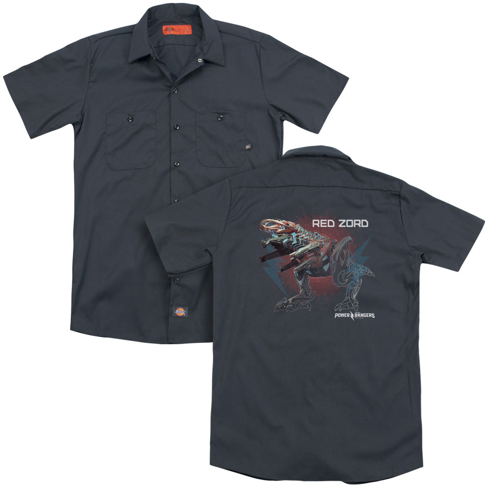 Power Rangers - Red Zord Adult Work Shirt