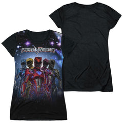 Power Rangers Power Surge Junior Black Back 100% Poly T-Shirt