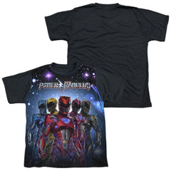 Power Rangers Power Surge Youth Black Back 100% Poly T-Shirt