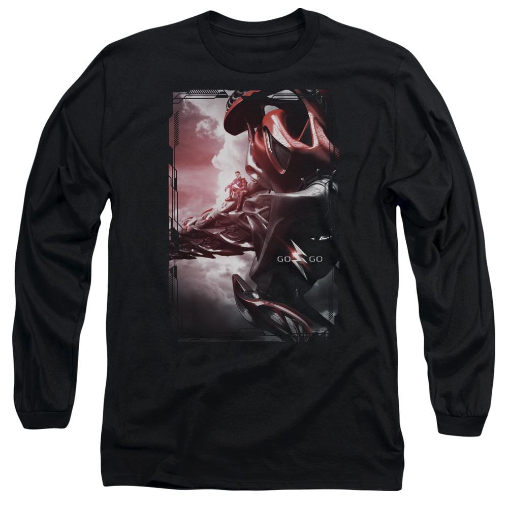 Power Rangers Red Zord Poster Adult Long Sleeve T-Shirt