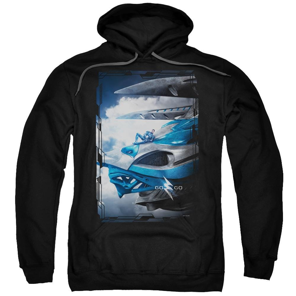 Power Rangers Blue Zord Poster Adult Pull-Over Hoodie