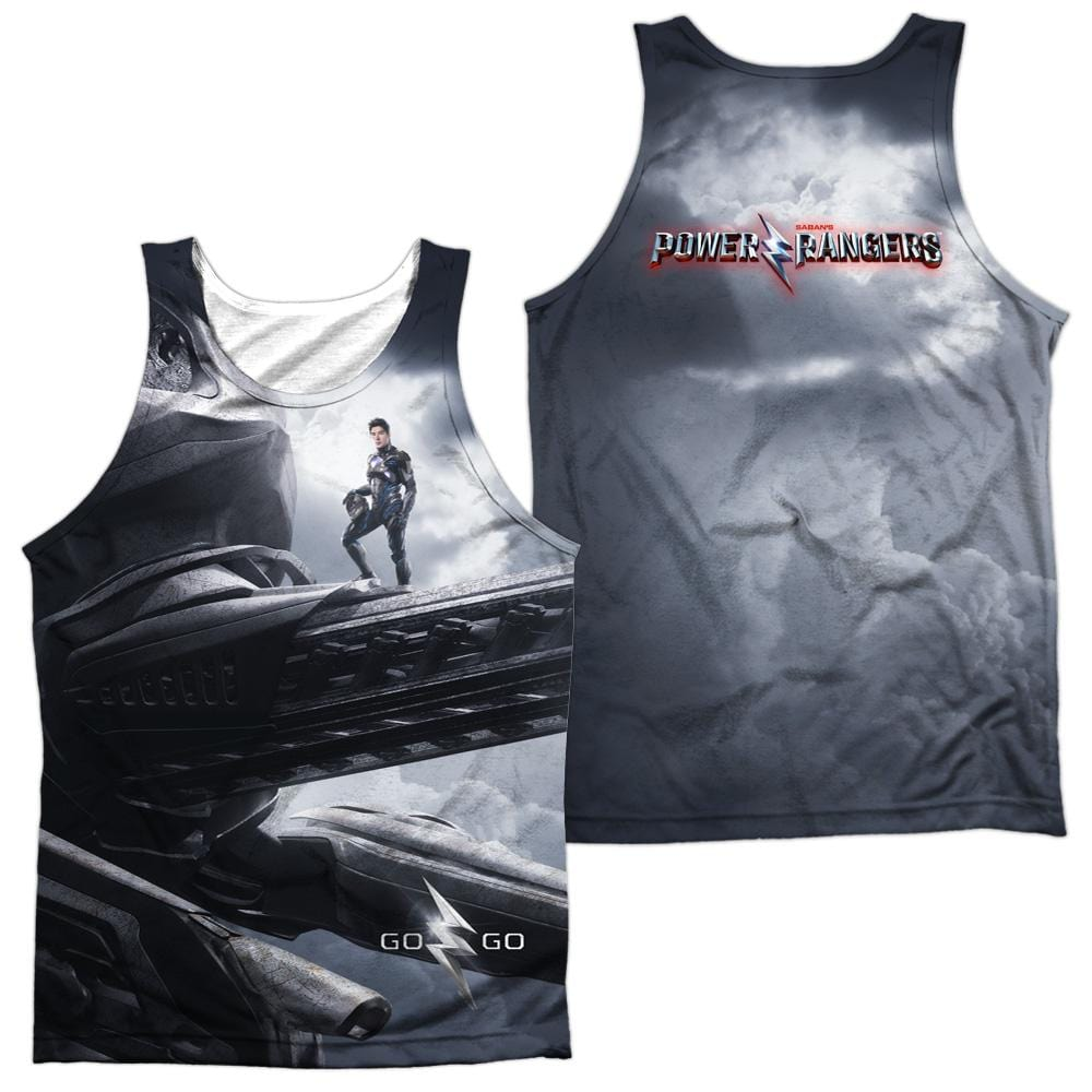 Power Rangers Black Zord Poster Adult 100% Poly Tank Top