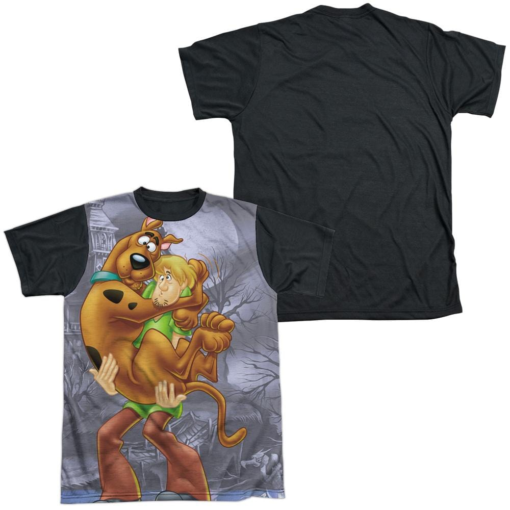 Scooby Doo Scooby And Shaggy Adult Black Back 100% Poly T-Shirt