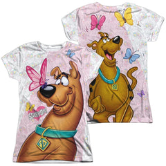 Scooby Doo Butterfly Junior All Over Print 100% Poly T-Shirt