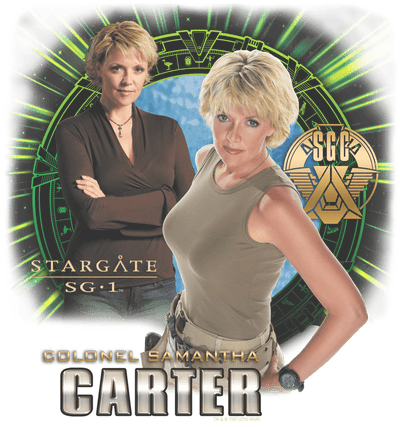 Stargate Samantha Carter Men's Premium Slim Fit T-Shirt