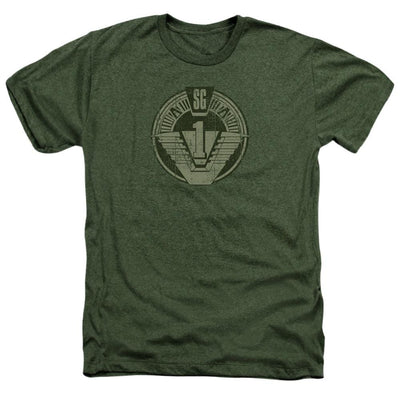Stargate Sg1 Distressed Men's Heather T-Shirt