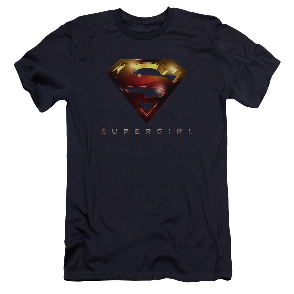 Supergirl Logo Glare Premium Adult Slim Fit T-Shirt
