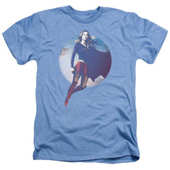Supergirl - Cloudy Circle Adult Regular Fit Heather T-Shirt