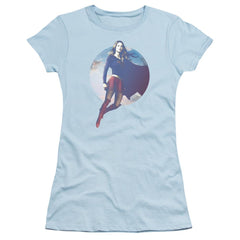Supergirl - Cloudy Circle Junior T-Shirt