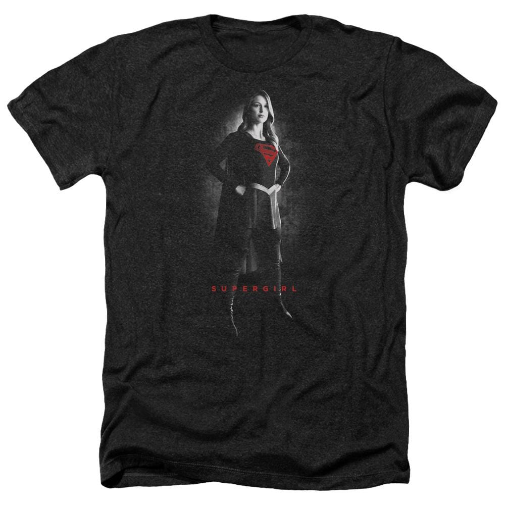 Supergirl - Supergirl Noir Adult Regular Fit Heather T-Shirt