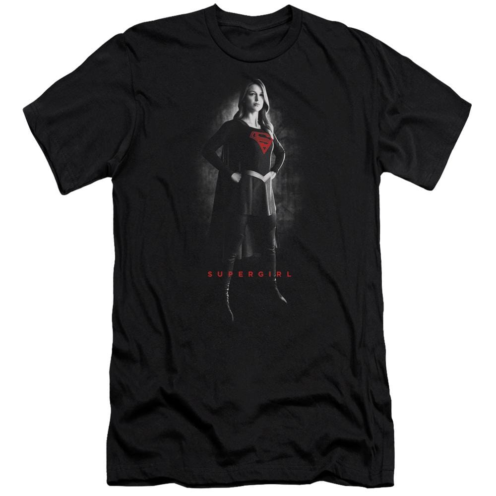 Supergirl Supergirl Noir Premium Adult Slim Fit T-Shirt