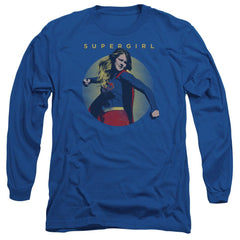 Supergirl - Classic Hero Adult Long Sleeve T-Shirt