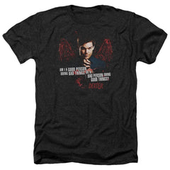 Dexter Good Bad Adult Regular Fit Heather T-Shirt