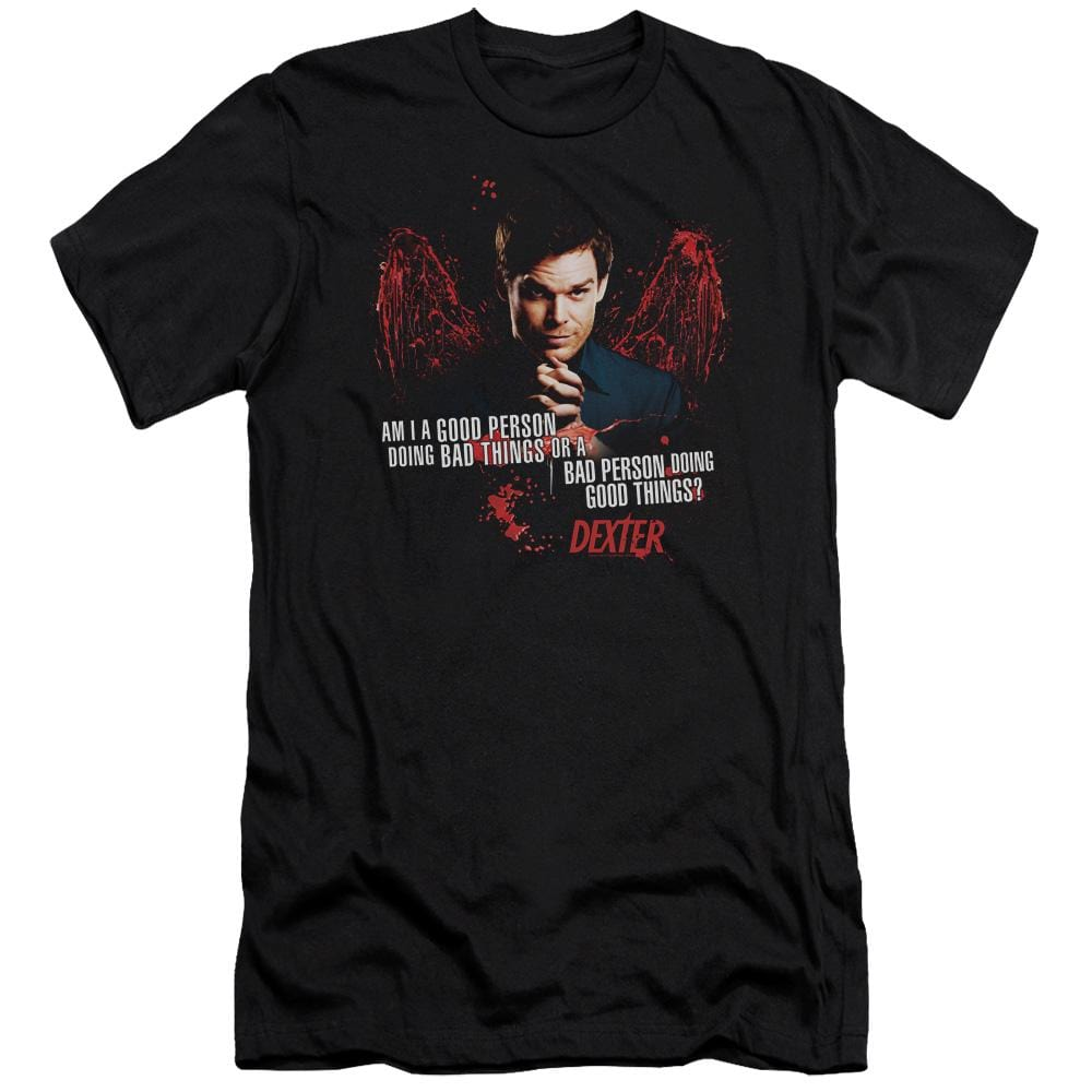 Dexter Good Bad Premium Adult Slim Fit T-Shirt