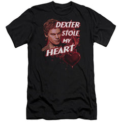 Dexter Bloody Heart Premium Adult Slim Fit T-Shirt